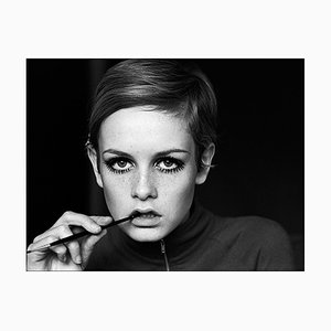 Twiggy, Eyeliner, 20th Century Photograph, 1967