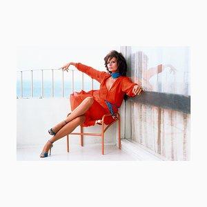 Sophia Loren, Fotografie, Frau in Rot, 1979