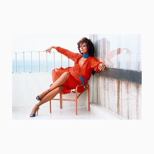 Sophia Loren, Photograph, Woman in Red, 1979