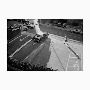 Man Walking Past Parkplatz, 1989