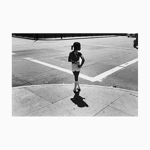 Girl on Street Corner, Chicago, 1978, 20th Century, Black and White Photography 1978 by Hock