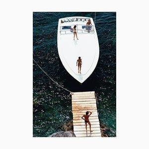 Speedboat Landung, Slim Aarons, 1973