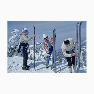 Skifahrer auf den Hängen von Sugarbush, Slim Aarons, 20. Jahrhundert