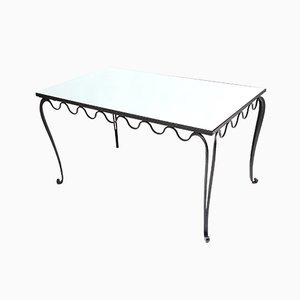 Esstisch oder Schreibtisch aus Schmiedeeisen, 1930er