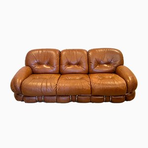 Model Okay Leather Sofa by Hadrian Piazzesi, 1970s
