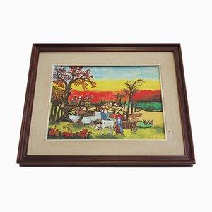 Painting Agricultural Landscape, Zavagnor