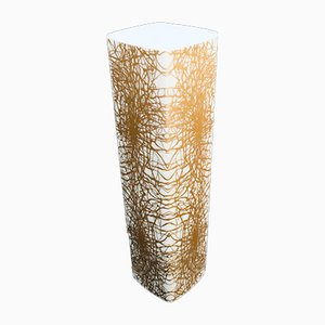 Jarrón abstracto en forma de oro de porcelana de Heinrich & Co, Germany, años 70