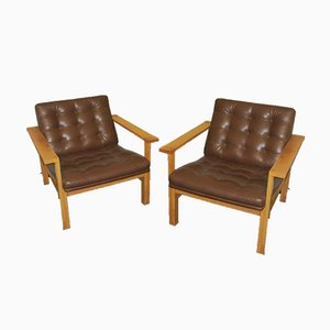 Mid-Century Lounge Chairs by Ole Gjerløv-Knudsen & Torben Lind for France & Søn / France & Daverkosen, Set of 2