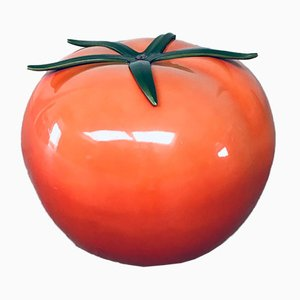 Large Modern Fiberglass Tomato Plant Decorative Item, 1980s