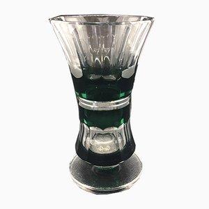 Felix Green Vase from Val St Lambert, Belgium