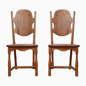 Mid-Century Swedish Pine Occasional Chairs, Set of 2