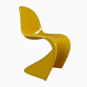Silla en miniatura amarilla de Verner Panton para Vitra