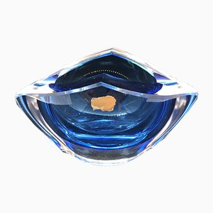 Blue Ashtray from Val St Lambert, Belgium