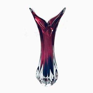 Czech Crystal Art Glass Beak Vase by Jozef Hospodka for Chribska Glassworks, 1950s