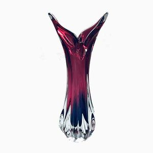 Tschechische Kristallglas Glasvase von Jozef Hospodka für Chribska Glasworks, 1950er
