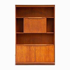 Scandinavian Teak Bookcase with Desk