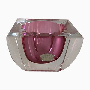 Pink Ashtray from St Val Lambert, Belgium