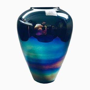 Vintage Italian Handmade Rainbow-Colored Art Glass Vase, 1960s