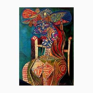 Arte español contemporáneo, azul claro de Leticia De Prado