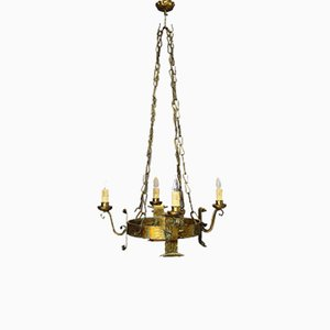 Antique Italian Renaissance Style Round Chandelier, 18th Century