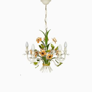 Wrought Iron Flowers Chandelier
