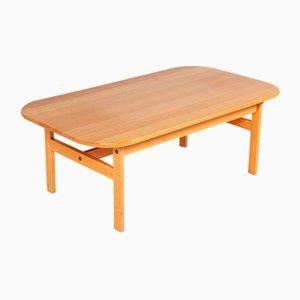 Danish Solid Oak Coffee Table, 1960s