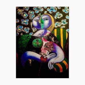 Spanish Contemporary Art, Mariposa, Leticia Prado, Oil on Canvas