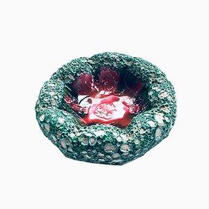 Cuenco italiano Mid-Century de cerámica con estructura de coral oceánico, años 60