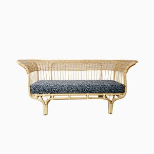 Italian Rattan Sofa by Franco Albini, 1950s