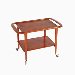 Danish Teak Drinks Trolley by Niels Otto Møller for JL Moller Furniture Factory, 1960s