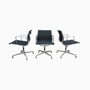 Aluminum and Fabric Model EA 108 Rotating Chairs by Charles Eames for Vitra, 2000s, Set of 4