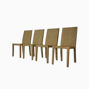 French Art Deco Design Dining Chairs by Jean Michel Frank & Adolphe Chanaux for Ecart International, Set of 4