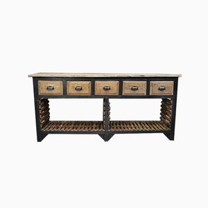 Console Fir 5 Tray Drawers, 1930s