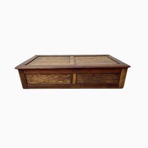 Vintage Wooden Storage Blanket Box