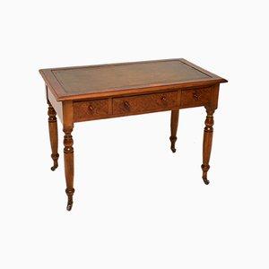 Antiker Viktorianischer Schreibtisch aus Wurzel- & Nussholz