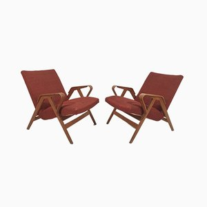 Armchairs by Franz Jirák for Tatra 1960s, Set of 2