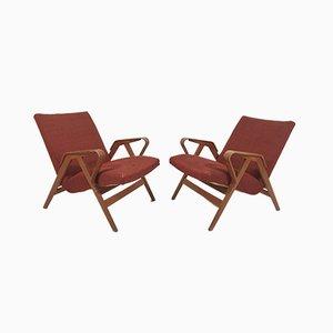 Armlehnstühle von Franz Jirák für Tatra 1960er, 2er Set