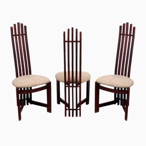 Atypical Geometrical Design Chairs, Set of 3