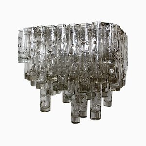 Square Mouth-Blown Chandelier from Doria, 1960s
