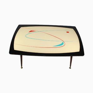 Coffee Table with Glass Top, 1950s
