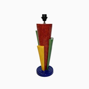 French Postmodern Ceramic Lamp by François Chatain, 1980s