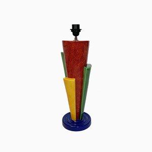 Lámpara francesa posmoderna de cerámica de François Chatain, años 80