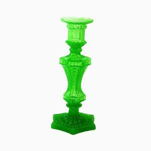 Annagrünem Pressglas Kerzenhalter, 1880er