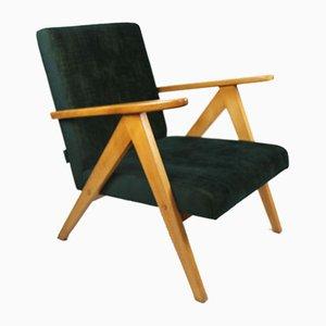 Grüner Samt Var Sessel, 1970er