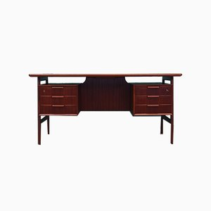 Danish Teak Model No. 75 Desk by Omann Jun, 1970s