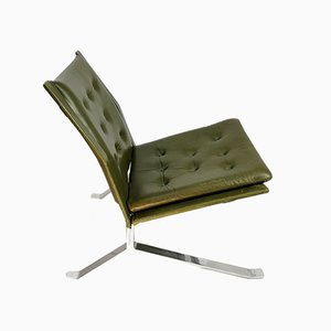 Handgemachter Stahl Stuhl, 1960er