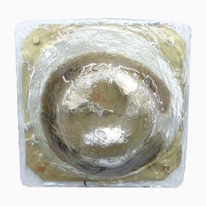 Eisglas Deckenlampe von JT Kalmar für Kalmar Franken KG, 1960er