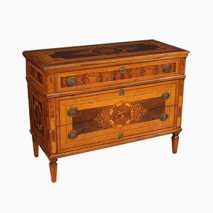 Italienische Louis XVI Kommode mit Intarsien aus Holz