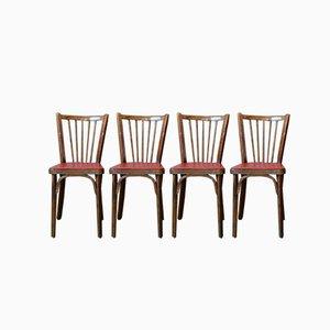 Bistro Stühle von Baumann, 1950er, 4er Set