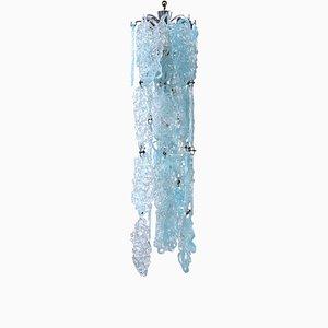 Mid-Century Hängelampe aus Kristallglas Spider von Vistosi, 1950er